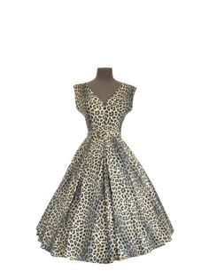 1950s Leopard Dress  50s BOMBSHELL Animal by Vintagephilosophy, $299.00
