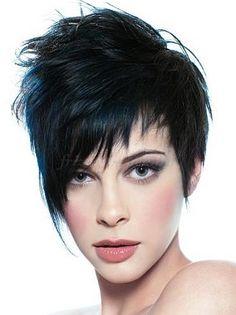 rövid frizurák, rövid frizurák hosszú frufruval - rövid aszimmetrikus női frizura
