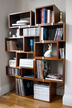 Unconventional bookshelf. Maybe this is just what your home needs.