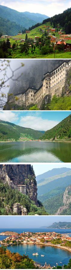 Karadeniz bolgesi Turkiye (Blacksea region of Turkey- North part of Turkey)