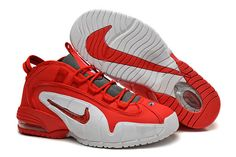 new concept 27f71 c61cb Red White Colorway Air Penny 1 Nike NBA Basketball Trainers New Nike Shoes,  New Jordans