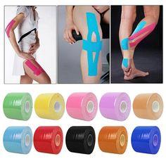 水泳キネシオロジーテープロール綿弾性接着筋肉スポーツテープ包帯フィジオひずみ傷害サポートb2cショップ