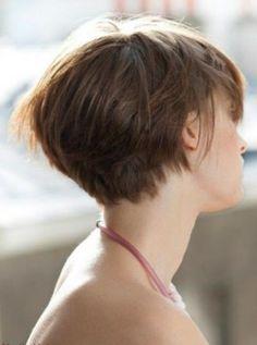 mooi kort haar, achterkant