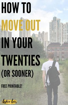 If you're tired of living in your parents house but think you are too broke to afford living on your own, think again. It's work to live on your own, but it can be done. Let me help teach you how to move out in your twenties! I'll even give you some free stuff to help!