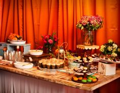 wedding finger food table