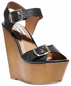80f2f930351a1 Steve Madden Women s Breeann Platform Wedge Sandals   Reviews - Shoes -  Macy s