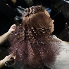 Our Aveda artists created voluminous '70s-style waves for the Colour Harmony show in Australia.