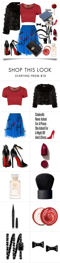 """""""Cropped Faux Fur Coats"""" by celestesantos93 ❤ liked on Polyvore featuring Topshop, Alice + Olivia, P.A.R.O.S.H., Posh Girl, NARS Cosmetics, Tory Burch, Marc Jacobs, The Body Shop, Chanel and Marc by Marc Jacobs"""