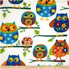Winter Fleece Owls Multi
