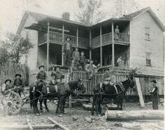Family at  Rum Creek, Logan County, West Virginia, 1906.