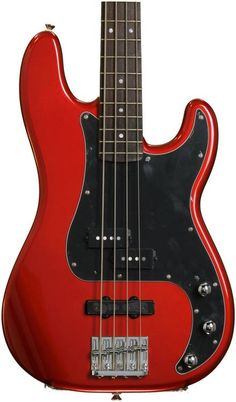 Squier Bass Vintage Modified PJ - Candy Apple Red