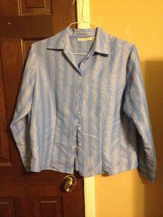 Women's Large Button Down Shirt Dressbarn | eBay
