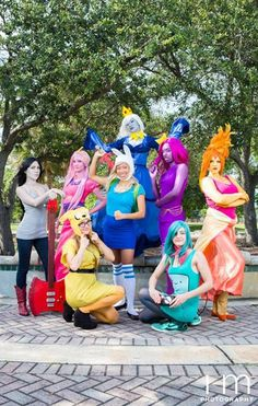 Adventure Time Group Cosplay - COSPLAY IS BAEEE! Tap the pin now to grab yourself some BAE Cosplay leggings and shirts! From super hero fitness leggings, super hero fitness shirts, and so much more that wil make you say YASSS!