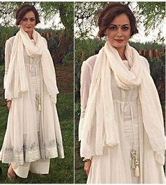 Sukriti and Akriti # dia Mirza # Pallazo love # white love # fashion