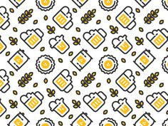 Seamless Beer Pattern http://arcreactions.com/blog-writing-more-strange-more-poor-more-fitter-more-shakespeare/