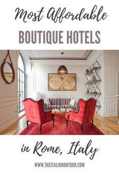 Staying in style in Rome doesn't have to break the bank.  To help you plan your trip to Rome, we've rounded up the Most Affordable Boutique Hotels in Rome, Italy.  #rome #hotelsinitaly #hotelsinromeitaly #traveltips #italy #travelplanning #affordablehotels Italy Travel Tips, Rome Travel, Budget Travel, Travel Destinations, Affordable Hotels, Enjoy Your Vacation, Travel Advice, Travel Guide, Boutique Hotels