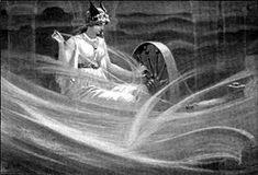 Frigg (norrønt Frigg) er Odins hustru i den nordiske mytologi.  I litteraturen beskrives hun som Odins ligeværdige, når det gælder viden om verdens skæbne, men modsat ham tier hun.  Kun i digtet Baldrs draumar skildres Frigg som aktivt handlende i forsøget på at ændre skæbnens gang, da hun først beder alle ting i verden skåne sin søn Balder. Siden, da det mislykkedes, at græde for ham.  Pga. hendes visdom søger Odin ofte hendes råd i vanskelige beslutninger.  Hun er mor til Balder, Hermod og…