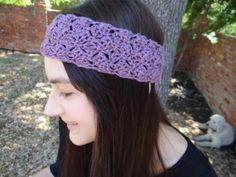 Purple Blend Crocheted Summer Headband