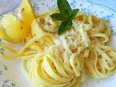 tagliatelle con limone e pecorino
