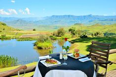 """Little Switzerland ~ Holiday Resort in Little Switzerland, Drakensberg. """"Alpine charm in the breathtaking Berg."""" Click on pic to see more. Little Switzerland really is something special - revel in serene silence far from traffic and meetings, enjoy our hearty buffet carveries, crackling log fires, and perhaps even some pampering at our spa. Family Friendly Resorts, Honeymoon Suite, Log Fires, Kwazulu Natal, Holiday Resort, Wooden Decks, Creature Comforts, Hotels And Resorts, Bed And Breakfast"""