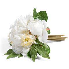 Bouquet de pivoines blanches H 25 cm LUCIE | Maisons du Monde