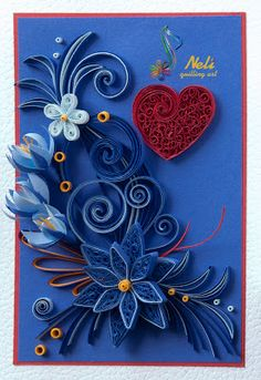 Neli is a talented quilling artist from Bulgaria. Her unique quilling cards bring joy to people around the world. Neli Quilling, Quilling Work, Quilling Cards, Paper Quilling, Quilling Patterns, Quilling Designs, Quilling Ideas, New Crafts, Arts And Crafts