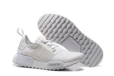 big sale c279b e2b41 Adidas NMD 4 Boost Herre   Dame All White,The Latest Adidas Superstar  Styles For Dame og Herre Online Billige til Salg Fast Shipping!