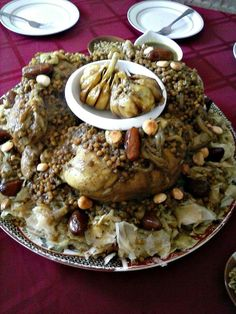 Seven Moroccan Chicken Dishes for Special Occasions & Company Dinners: Chicken Rfissa Morrocan Food, Moroccan Kitchen, Moroccan Dishes, Moroccan Recipes, Company Dinner, Lentil Dishes, Heritage Recipe, Moroccan Chicken, Middle Eastern Recipes