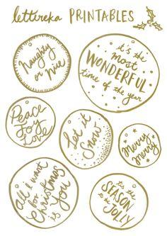lettereka christmas free printables