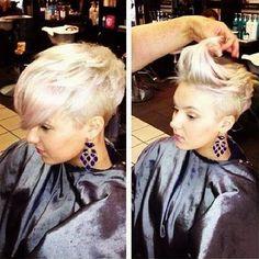 Wonderful Extremely Side Shaved Boyish Pixie Hair Cute-Girls-with-Shor