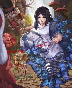 Alice In Wonderland Artwork, Dark Alice In Wonderland, Alice In Wonderland 1, Lewis Carroll, Alice Sweet Alice, Alice Liddell, Alice Madness Returns, Video Games Girls, Estilo Anime