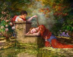 Tristan et Iseult Tristan Et Iseult, Decoupage, Gamers Anime, Art Et Illustration, Pre Raphaelite, Art Portfolio, Magazine Art, Retro, Fantasy Art