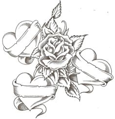 coloring pictures of hearts and roses for teens - Enjoy Coloring Heart Coloring Pages, Cool Coloring Pages, Printable Coloring Pages, Adult Coloring Pages, Coloring Sheets, Tattoo Oma, Tattoo Kind, Rose Drawing Tattoo, Tattoo Drawings