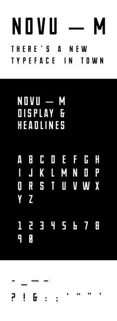 https://www.behance.net/gallery/29805331/NOVU-M-Free-Font
