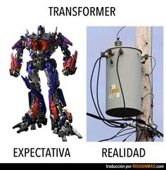 Expectativa vs realidad: Transformer.