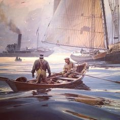 From instagram user charlesgbaldwin: Harbor scene. #boating #seamanship #whaling #industry #pem #museum