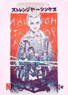 Stranger Things poster - Manga style