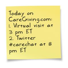 Join us!    Virtual visit: www.caregiving.com/2013/05/today-virtual-visit-to-michelle/