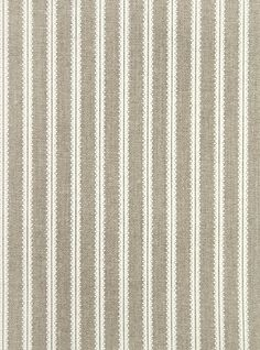 Milson Ticking Linen Fabric Natural linen fabric with delicate cream striped design.