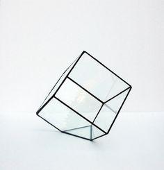 Geometric Glass Terrarium / Cube / Square / by WhiteLiesJewelry