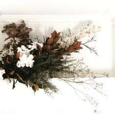 The twigs give a hard poky feeling while the brownish give off a soft dried with the white looks plush soft Floral Wedding, Wedding Flowers, Fall Wedding, Fall Flower Arrangements, No Rain, Dried Flowers, Flower Power, Planting Flowers, Beautiful Flowers
