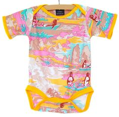 Penguin Picnic Onesie / LAST ONE / size 6-12 months / short sleeves only