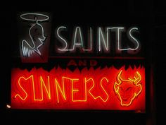 Saints/Sinners- Neon sign of a liquor store in Española - Photography by  Dill Pixels, via Flickr Morning Star, Liquor Store, All Of The Lights, Bright Lights, Neon Lighting, Hogwarts, Neon Signs, Aesthetic Dark, Leonard Snart