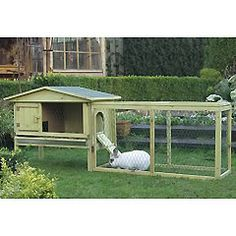 Raised sleeping section is a great idea to help keep out animals such as dogs and foxes, and extended run is brilliant idea to ensure rabbit has space to move around. Would love an extra level and perhaps a little wider, would probably change the color as well :)