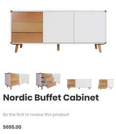Nordic Buffet Cabinet - Double Star Furniture- $695