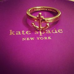 Kate Spade anchor ring
