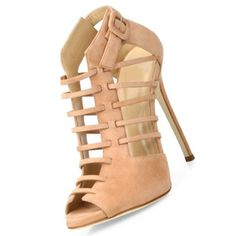 Nude Cage Sandals #Sandals
