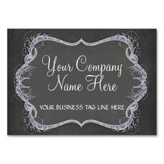 Chalkboard Typographic Leaf Swirl Modern Business Business Card