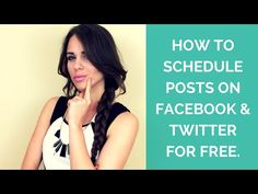 How To Schedule Posts on Facebook & Twitter For Free - YouTube