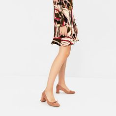 Image 1 of HIGH HEEL SHOES WITH BOW DETAIL from Zara
